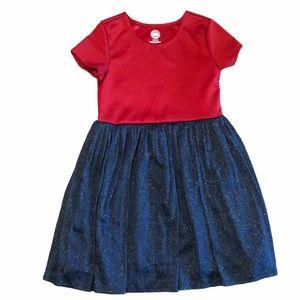 Wonder Nation Girls Short Sleeve Textures Dress